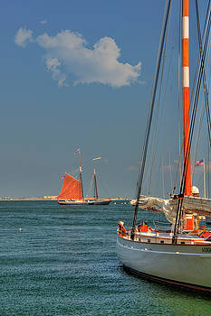 Sailing on Boston Harbor by Joann Vitali