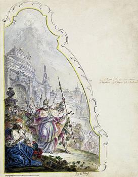 Johann Baptist Enderle - Saint Ignatius Leaving Antioch