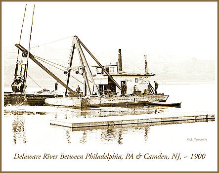 Salvage Barge, Delaware River, Philadelphia, c.1900 by A Gurmankin