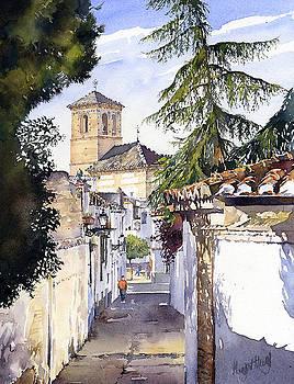 San Bartolome Albaicin Granada by Margaret Merry