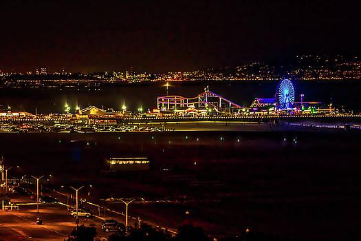 Santa Monica Pier Light Show - Series 3 by Gene Parks