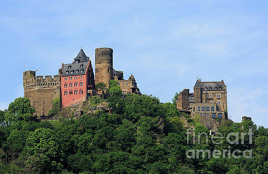 Schoenburg Castle above Oberwesel Germany by Louise Heusinkveld
