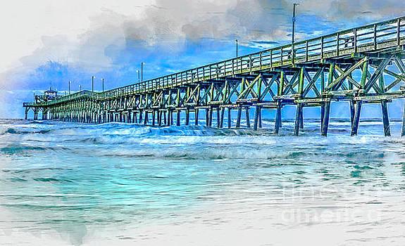 Sea Blue - Cherry Grove Pier by David Smith