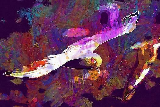 Seagull Water Seevogel Fly Lake  by PixBreak Art