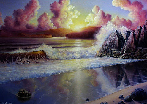 Seascape Sunset by John Cocoris