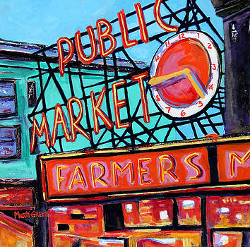 Seattle Public Market by Marti Green