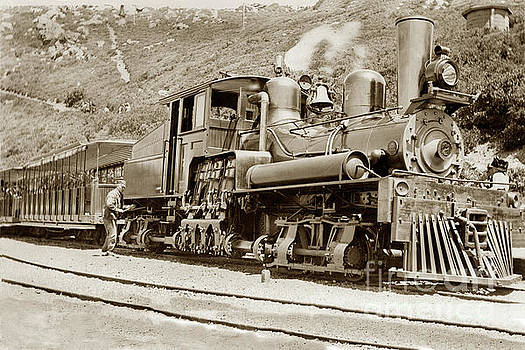 California Views Mr Pat Hathaway Archives -  Shay locomotive #7 Mount Tamalpais circa 1910