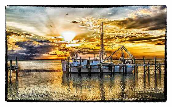 Paula Porterfield-Izzo - Shrimp Boat Sunset
