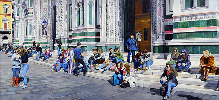 Sitting on the Steps of the Duomo by Matthew Bates