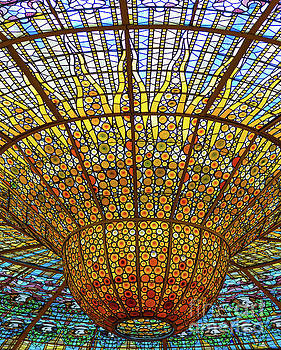 Skylight in Palace of Catalan Music  by Andrew Michael