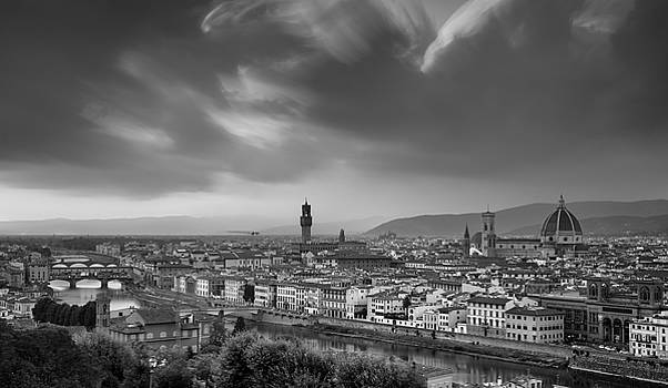 Skyline of Florence city in Italy by Michalakis Ppalis