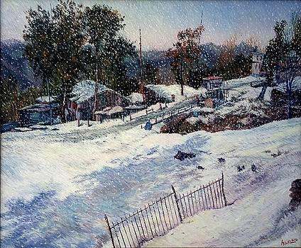 Snowscape by Abid Khan
