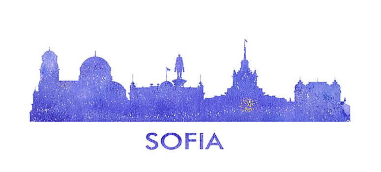 Vyacheslav Isaev - Sofia city purple skyline