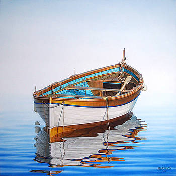 Solitary Boat on the Sea by Horacio Cardozo