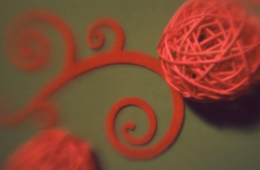 Spiral Ball with Felt by Tamarra Tamarra