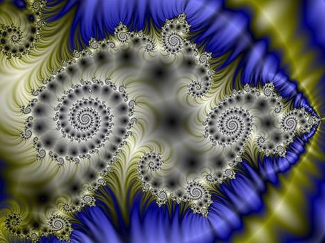 Spiral Fractal Poster by David Smith