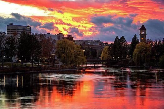 Spokane River Sunset by James Richman