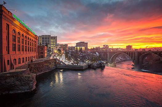 Spokane Sunset by James Richman