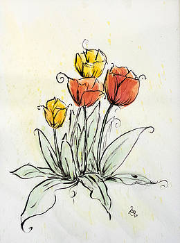 Spring Tulips by Gaynell Parker