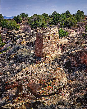 Square Tower At Hovenweep by John Brink