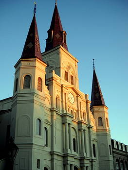 St Louis Cathedral by Ted Hebbler