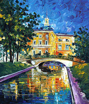 St Petersburg - PALETTE KNIFE Oil Painting On Canvas By Leonid Afremov by Leonid Afremov