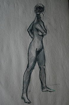 Standing nude by Dan Koon