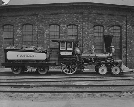 Chicago and North Western Historical Society - Steam Engine Dressed Up for Railroad Fair - 1949