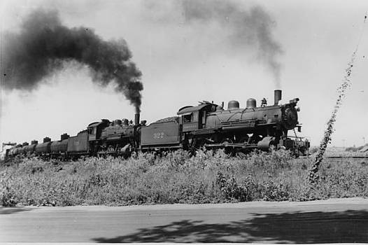 Chicago and North Western Historical Society - Steam Engine Lugging Freight Through Nebraska