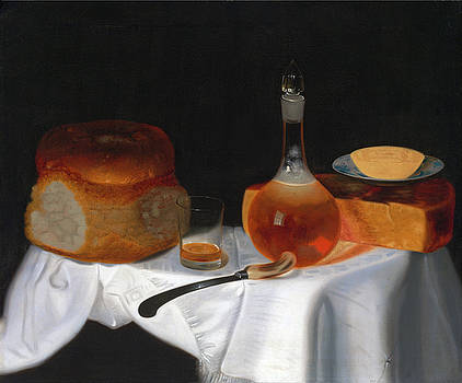 Still Life of Bread, Butter and Cheese by George Smith