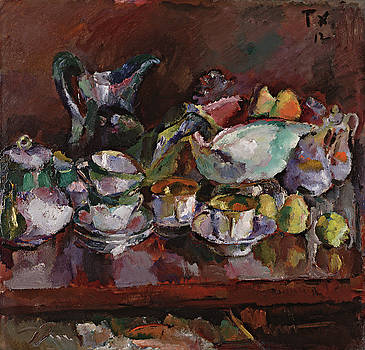 Anton Faistauer - Still Life with Coffee Cups