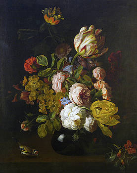 Tobias Stranover - Still Life with Flowers