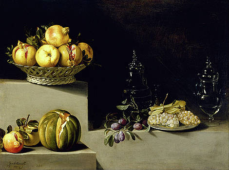 Still Life with Fruit and Glassware by Juan van der Hamen