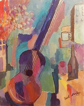 Still Life with Guitar by Carol Stanley
