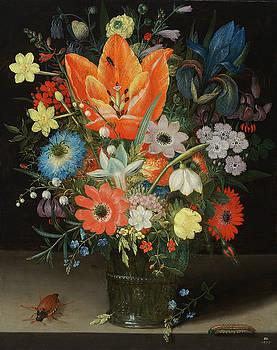 Peter Binoit - Still Life with Iris
