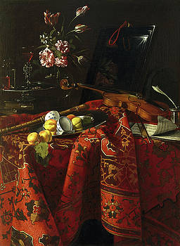 Cristoforo Munari - Still Life with Musical Instruments