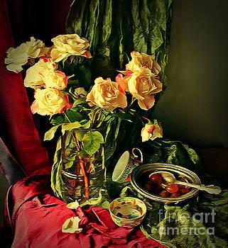 Still Life With Roses- by Binka Kirova