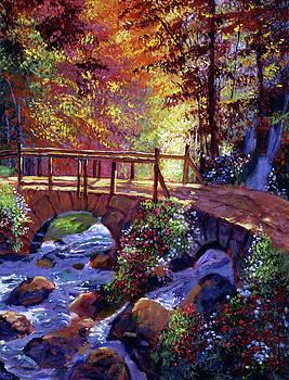 Stone Bridge At Royal Gardens by David Lloyd Glover