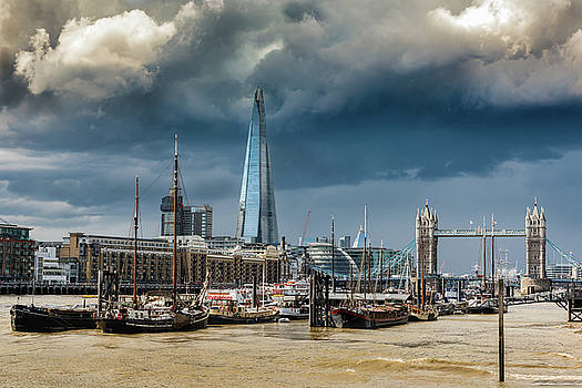 Gary Eason - Storm looming over The Shard and Tower Bridge