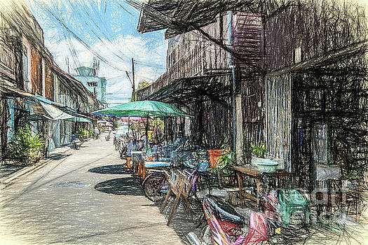 Street scene by David Lane