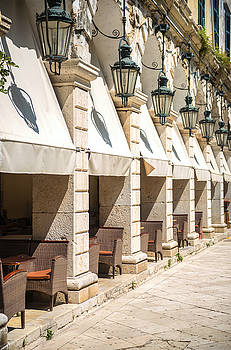 Eduardo Huelin - Street view of Corfu Greece