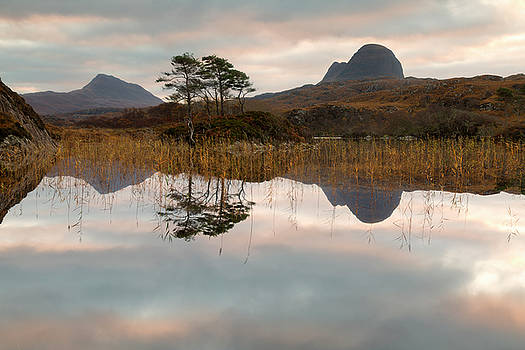 Suilven and Canisp Sunrise by Derek Beattie