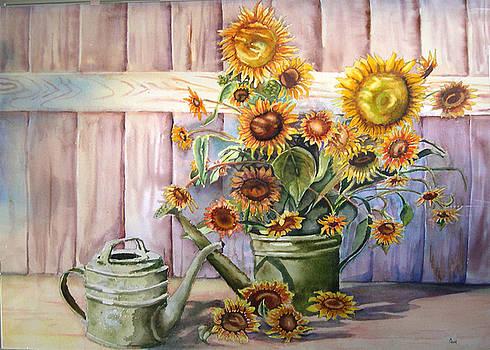 Sunflowers by Carol Rhodes