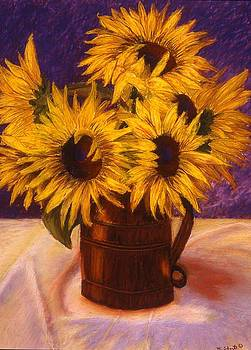 Mary Erbert - Sunflowers in a Copper Can