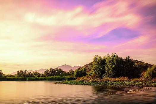 Sunrise On The Gila by Ken Mickel