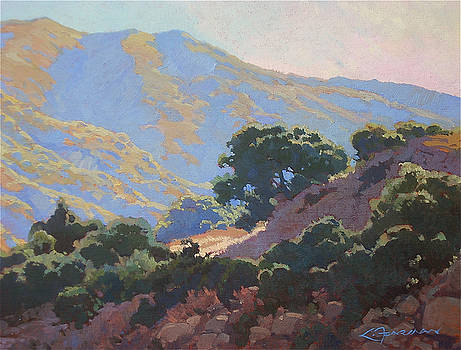 Sunrise on the San Gabriels by Lynne Fearman