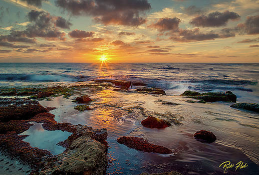 Sunset at La Jolla  by Rikk Flohr