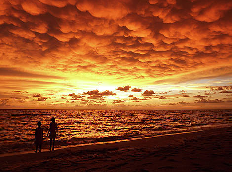 Sunset Before The Storm by Melanie Moraga