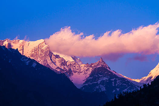 Sunset in the Indian Himalayas by Nila Newsom