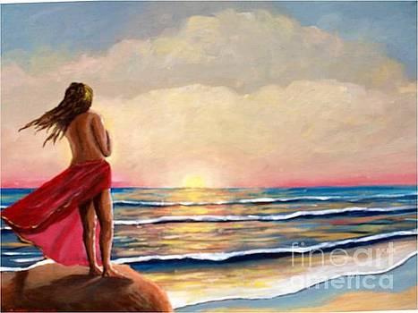 Sunset in the Sea by Jean Pierre Bergoeing